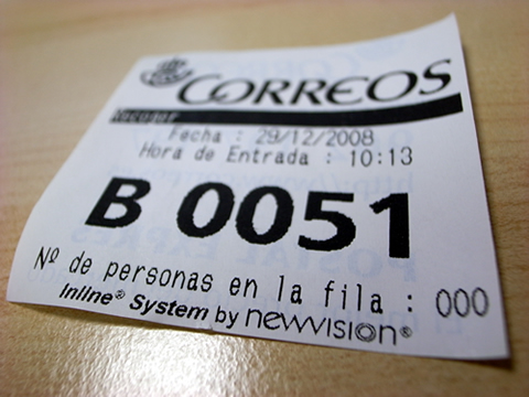ticket de correos