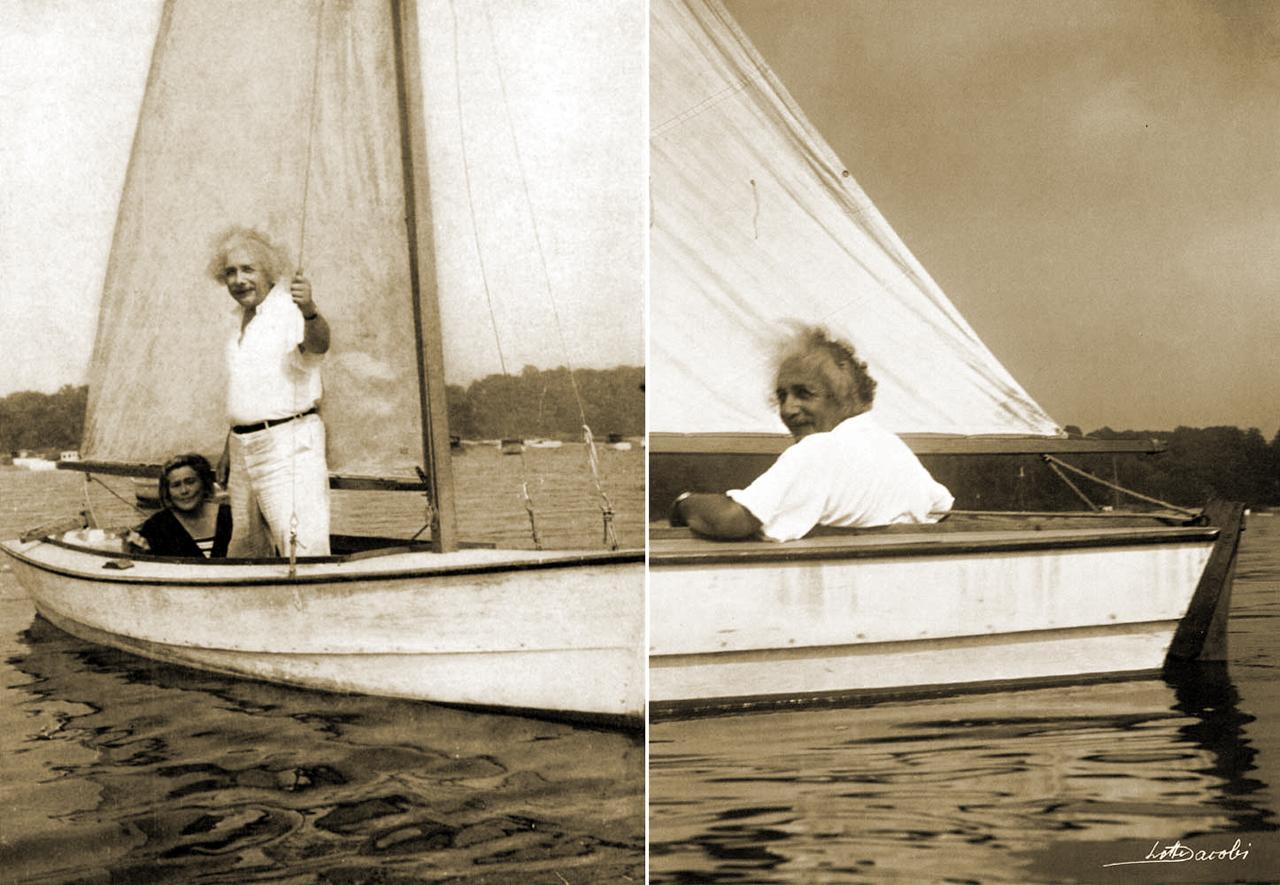 Einstein navegando